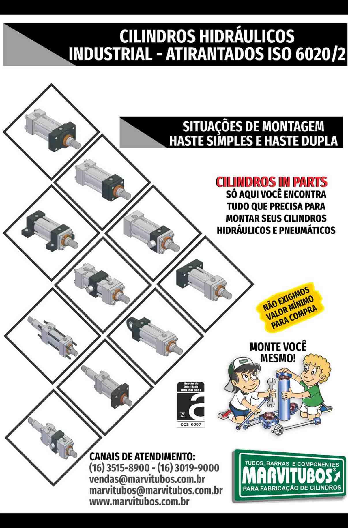 SITUAÇÕES DE MONTAGEM CILINDRO HIDRÁULICO INDUSTRIAL ATIRANTADO
