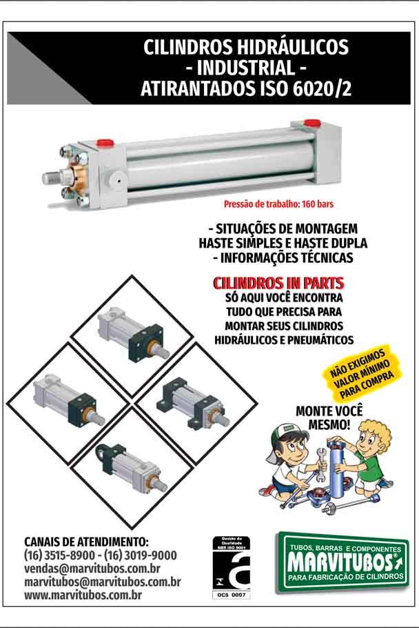 CILINDRO HIDRÁULICO ATIRANTADO ISO 6020/2 - PRESSÃO: 160 BAR