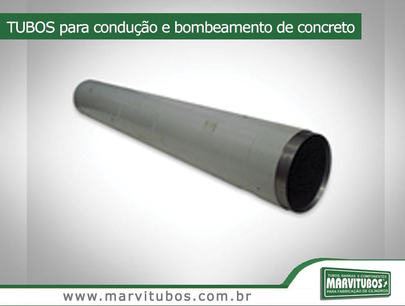 Tubos para condução e bombeamento de concreto